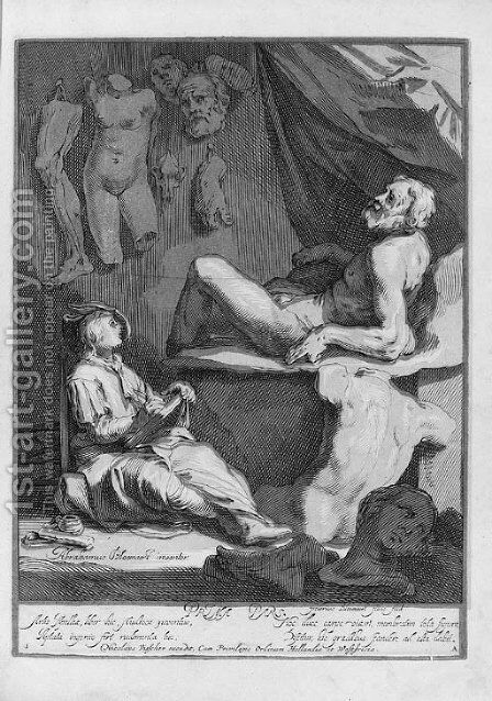The Drawing Book of Abraham Bloemart by (after) Abraham Bloemaert - Reproduction Oil Painting