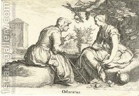The Five Senses by (after) Abraham Bloemaert - Reproduction Oil Painting