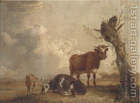 Cattle in a landscape by (after) Aelbert Cuyp - Reproduction Oil Painting