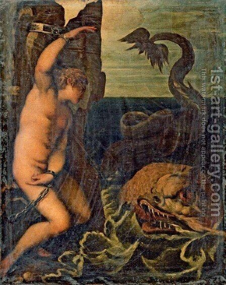 Andromeda by (after) Agostino Carracci - Reproduction Oil Painting