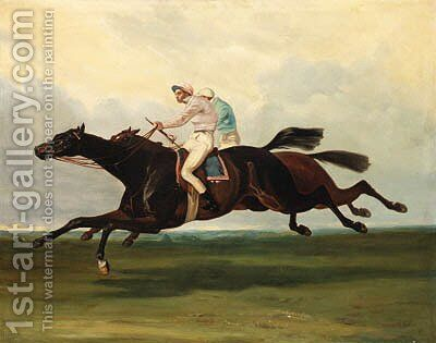 Racing to the Finish by (after) Alfred De Dreux - Reproduction Oil Painting