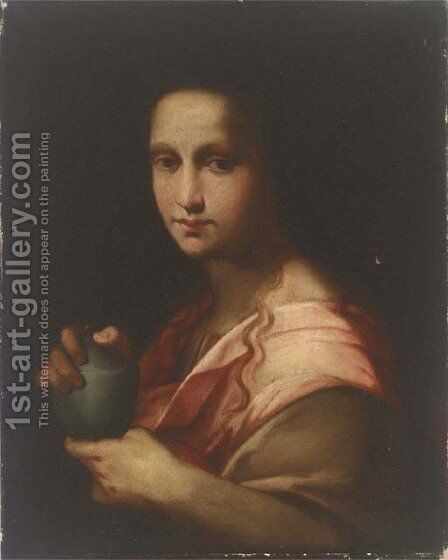 Saint Mary Magdalene 2 by (after) Andrea Del Sarto - Reproduction Oil Painting