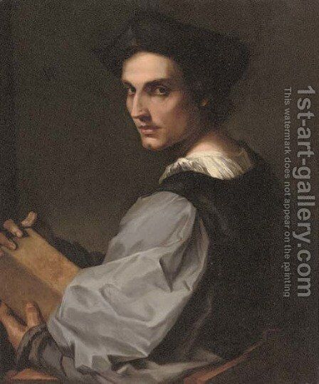Self-portrait of the artist by (after) Andrea Del Sarto - Reproduction Oil Painting