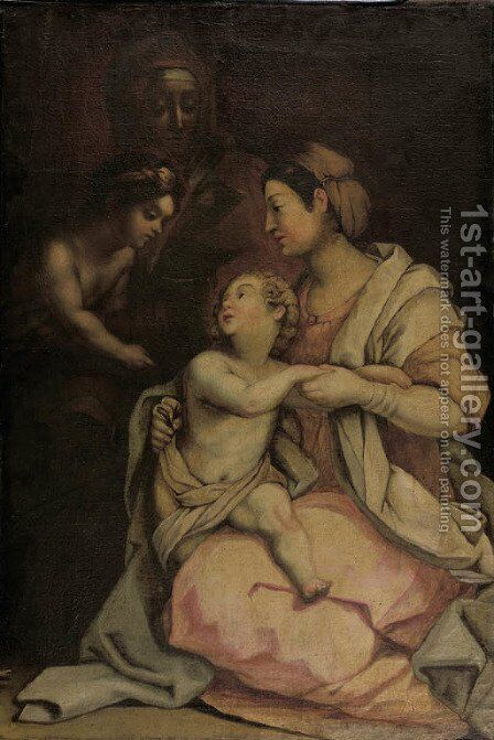 The Madonna and Child the so-called Medici Madonna by (after) Andrea Del Sarto - Reproduction Oil Painting