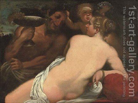 La Baccante by (after) Annibale Carracci - Reproduction Oil Painting