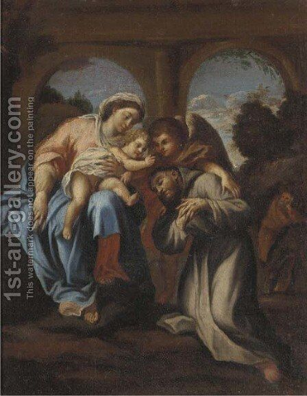 The Vision of Saint Francis by (after) Annibale Carracci - Reproduction Oil Painting