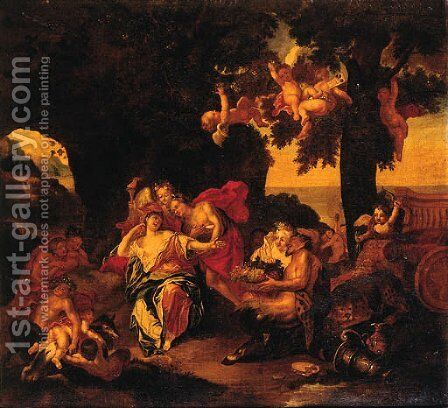 Bacchus And Ariadne On The Island Of Naxos by (after) Antoine Coypel - Reproduction Oil Painting
