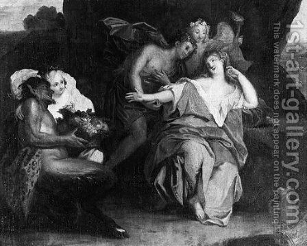 Bacchus And Ariadne On The Island Of Naxos 2 by (after) Antoine Coypel - Reproduction Oil Painting