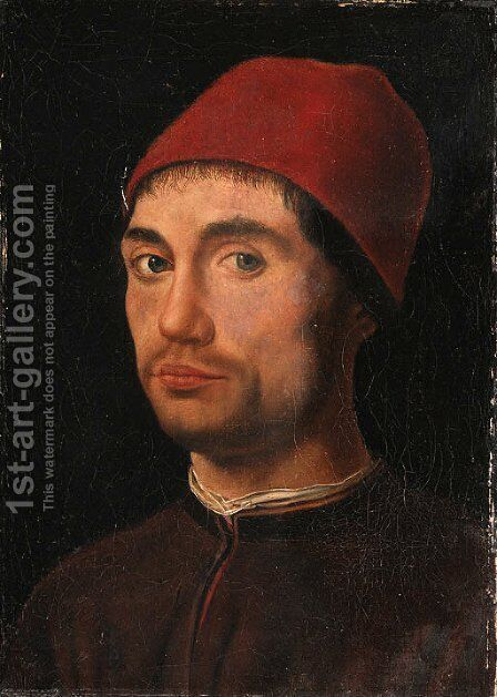 Portrait of a man 2 by Antonello da Messina Messina - Reproduction Oil Painting