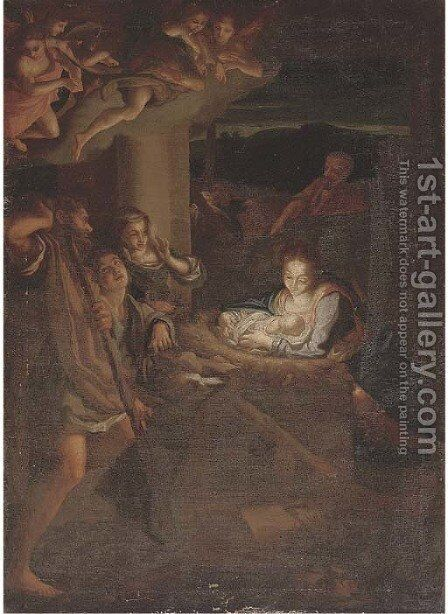The Adoration of the Shepherds by Correggio (Antonio Allegri) - Reproduction Oil Painting