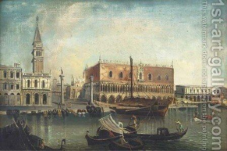 The Molo and the Piazzetta, Venice, from the Bacino by (Giovanni Antonio Canal) Canaletto - Reproduction Oil Painting