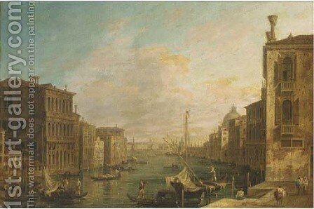 The Grand Canal, Venice, looking East from the Campo di S. Vio towards the Bacino by (Giovanni Antonio Canal) Canaletto - Reproduction Oil Painting