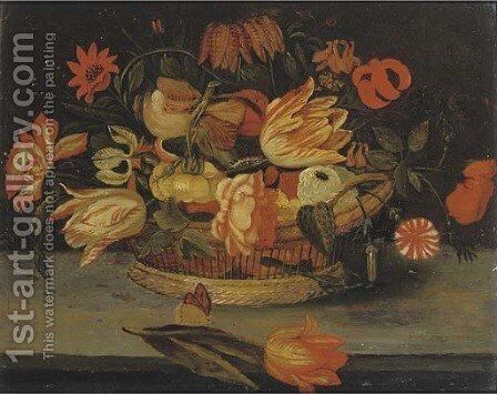 Roses by (after) Balthasar Van Der Ast - Reproduction Oil Painting