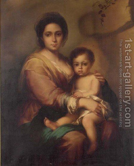 The Virgin and Child by Bartolome Esteban Murillo - Reproduction Oil Painting