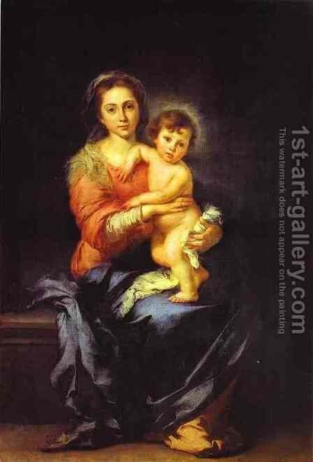 Virgin and Child by Bartolome Esteban Murillo - Reproduction Oil Painting