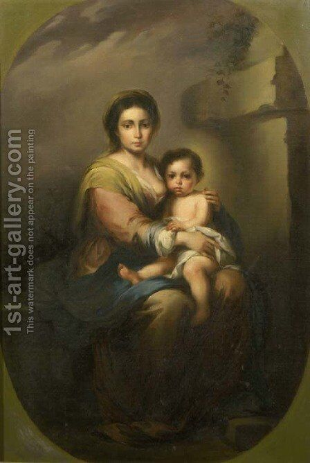 The Madonna and Child 4 by Bartolome Esteban Murillo - Reproduction Oil Painting
