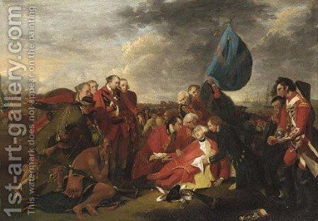 The death of General Wolfe 2 by (after) Benjamin West - Reproduction Oil Painting