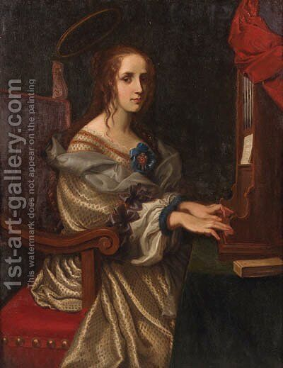Saint Cecilia by (after) Carlo Dolci - Reproduction Oil Painting
