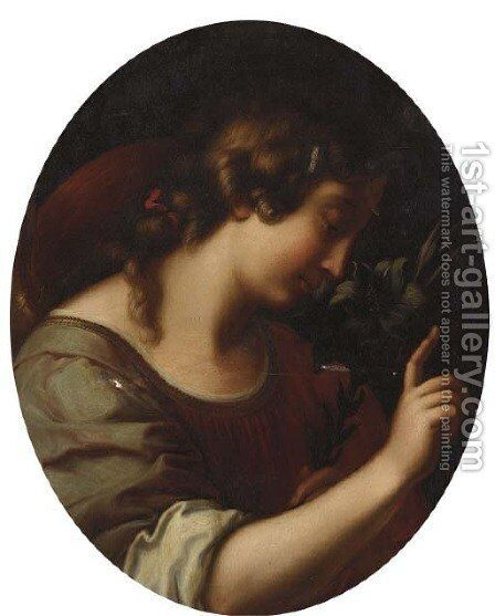 The Angel of the Annunciation 2 by (after) Carlo Dolci - Reproduction Oil Painting