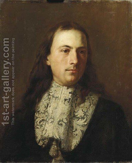 Portrait of gentleman by (after) Carlo Maratta Or Maratti - Reproduction Oil Painting