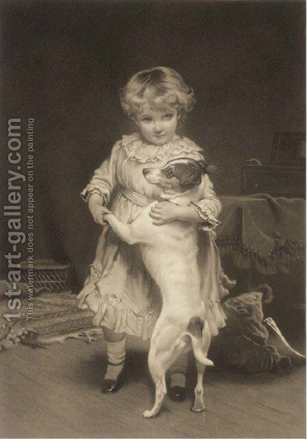 My first partner by Charles Burton Barber - Reproduction Oil Painting