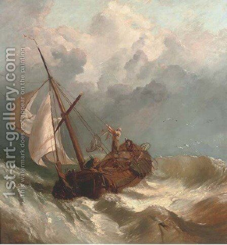 On turbulent waters by (after) Clarkson Stanfield - Reproduction Oil Painting
