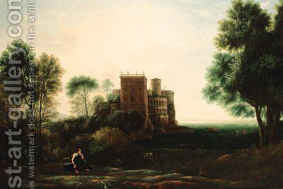 A landscape with Psyche before the Palace of Love by Claude Lorrain (Gellee) - Reproduction Oil Painting