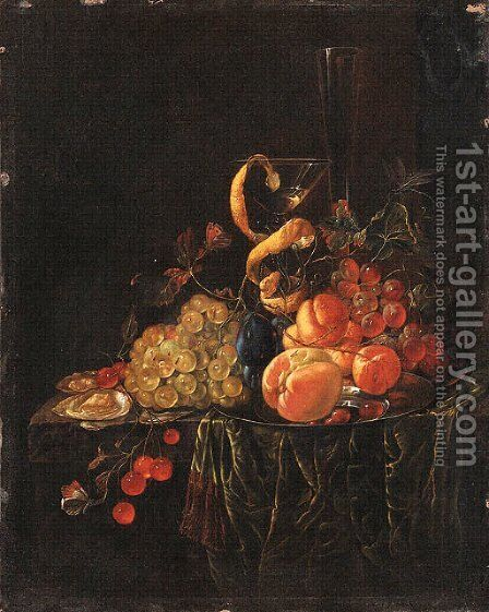 Peaches by (after) Cornelis De Heem - Reproduction Oil Painting