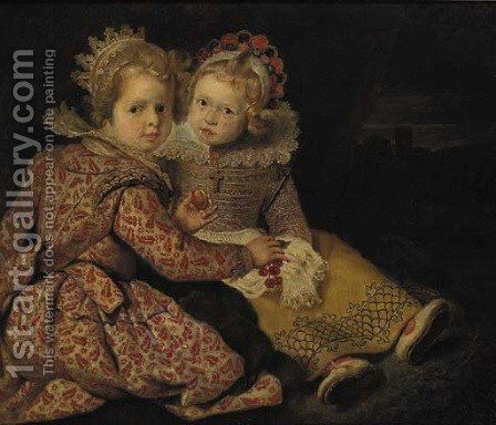 The children of the artist by (after) Cornelis De Vos - Reproduction Oil Painting