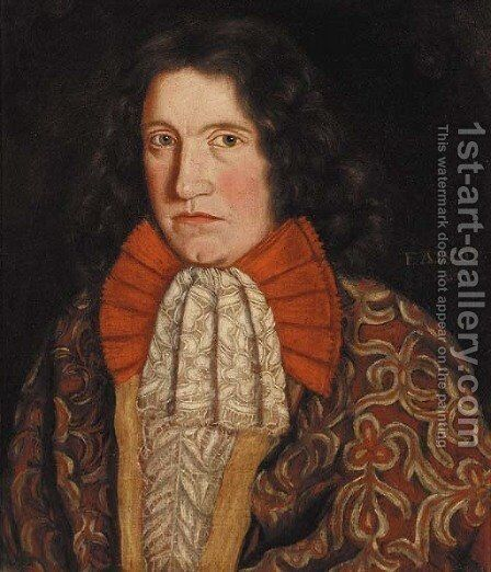 Portrait of Thomas Forbes of Watertoun (1664-1731) by (after) David Scougall - Reproduction Oil Painting