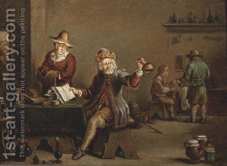 A quack at work in an inn by David The Younger Teniers - Reproduction Oil Painting