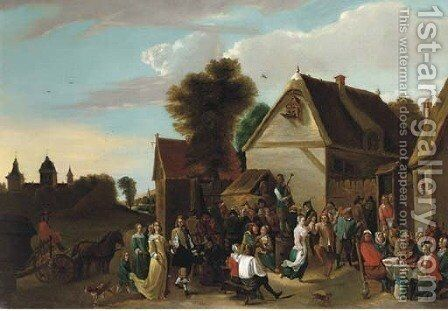 A village kermesse by David The Younger Teniers - Reproduction Oil Painting