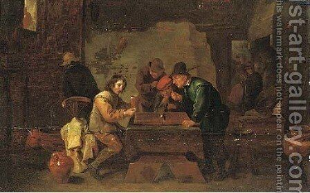 The backgammon players by David The Younger Teniers - Reproduction Oil Painting