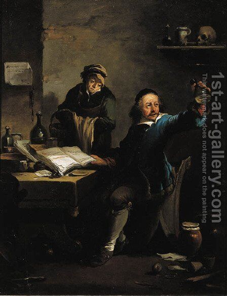The Doctor's Visit by David The Younger Teniers - Reproduction Oil Painting