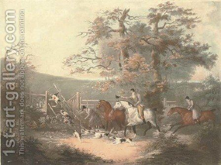 Fox Hunting The Start by Dean Wolstenholme, Snr. - Reproduction Oil Painting