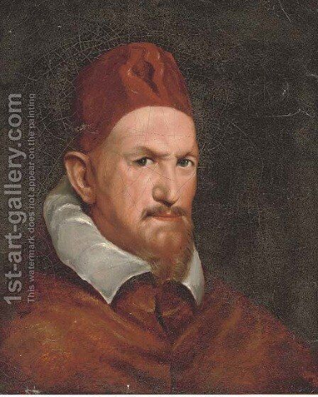 Pope Innocent X by (after) Diego Rodriguez De Silva Y Velazquez - Reproduction Oil Painting