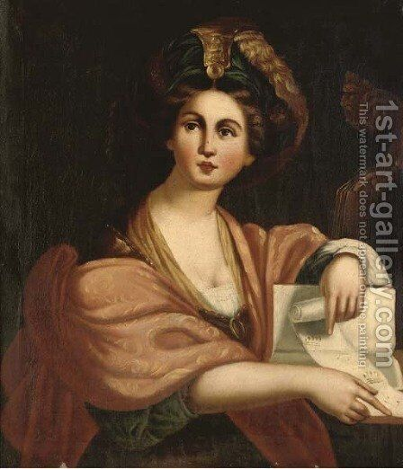 The Cumaean Sibyl by (after) Domenichino (Domenico Zampieri) - Reproduction Oil Painting