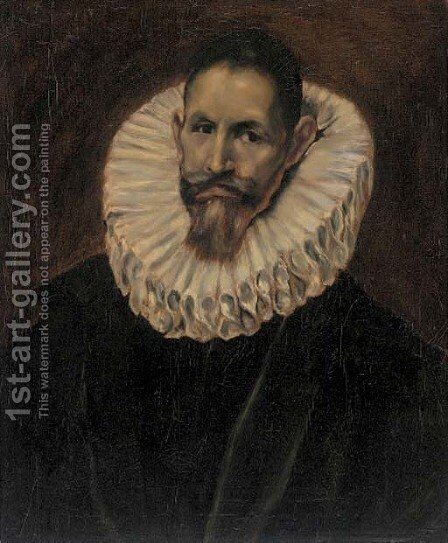 Portrait of Jeranimo de Cevallos, half-length by El Greco - Reproduction Oil Painting