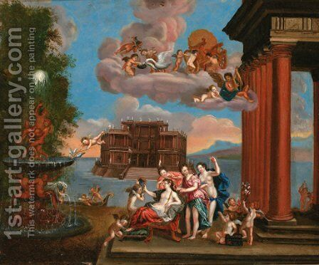 The Toilet of Venus 2 by (after) Francesco Albani - Reproduction Oil Painting