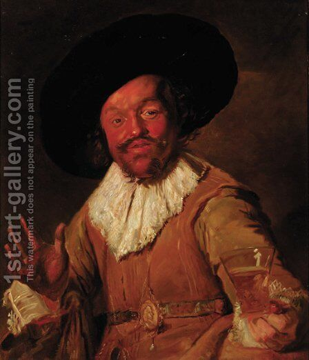 A cavalier by Frans Hals - Reproduction Oil Painting