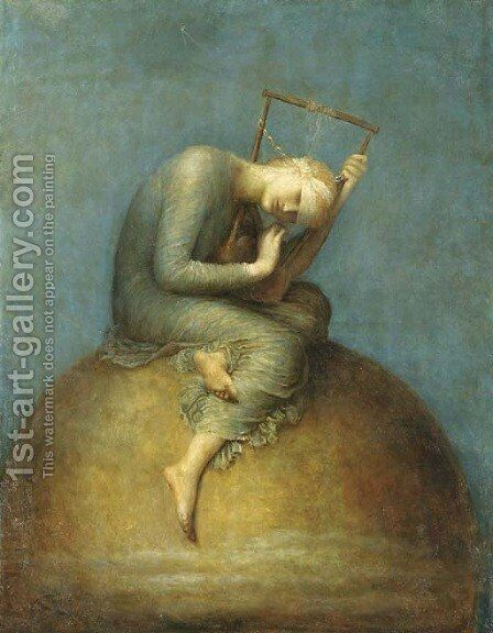Hope by (after) Watts, George Frederick - Reproduction Oil Painting