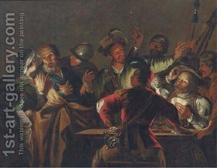 The Denial of Saint Peter by (after) Gerard Seghers - Reproduction Oil Painting
