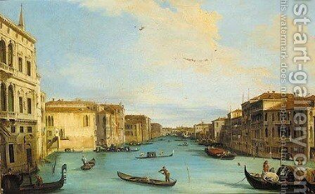 The Grand Canal, looking north-east from the Palazzo Balbi, to the Rialto Bridge by (Giovanni Antonio Canal) Canaletto - Reproduction Oil Painting