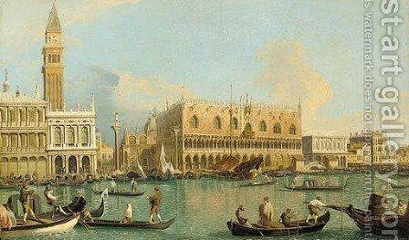 The Molo, the Doge's Palace, and the Piazzetta, Venice, from the Bacino by (Giovanni Antonio Canal) Canaletto - Reproduction Oil Painting