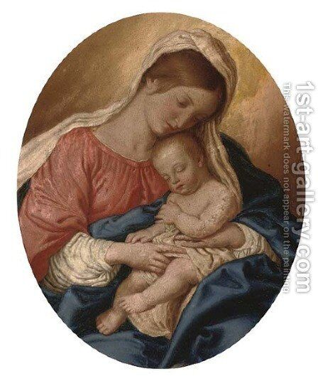 The Madonna and Child by (after) Giovanni Baptista Salvi, Called Sasseferroto - Reproduction Oil Painting