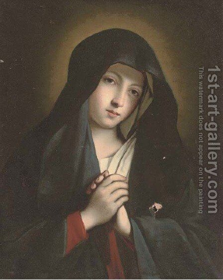 The Virgin in Prayer by (after) Giovanni Baptista Salvi, Called Sasseferroto - Reproduction Oil Painting