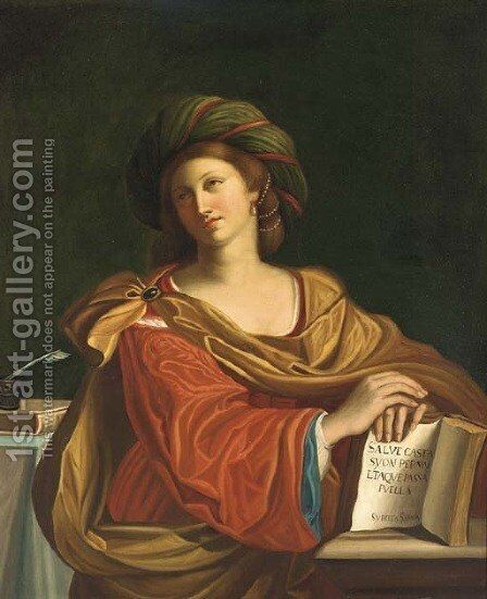 The Samian Sibyl by Giovanni Francesco Guercino (BARBIERI) - Reproduction Oil Painting