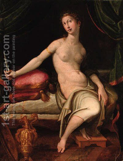 Lucretia 2 by Girolamo Francesco Maria Mazzola (Parmigianino) - Reproduction Oil Painting