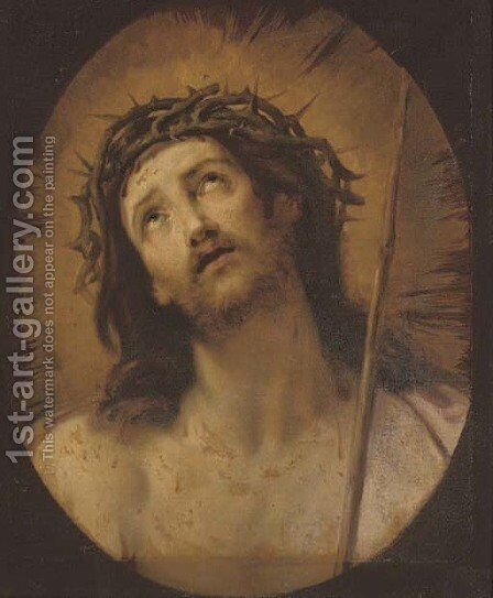 Ecce Homo, in a feigned oval by (after) Guido Reni - Reproduction Oil Painting