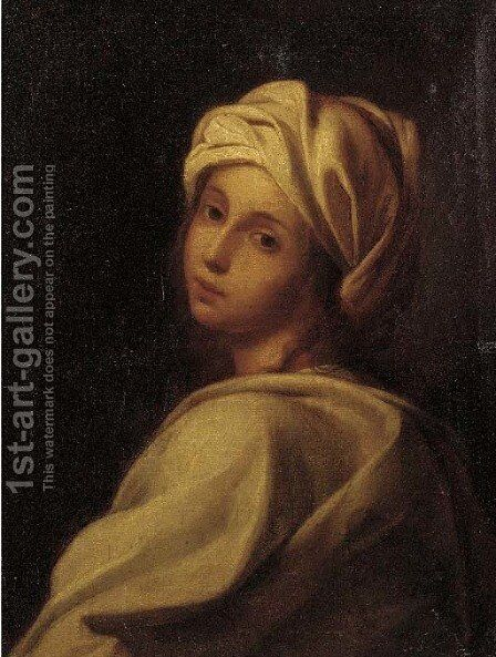 Portrait of a girl by (after) Guido Reni - Reproduction Oil Painting